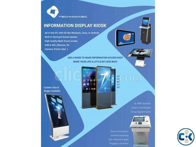 Advertisement Display Touch Kiosk PC Mobile for Rent | ClickBD large image 4