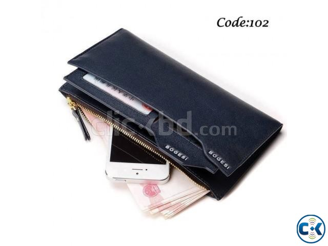 Bogesi Leather Black Color Men s Long Wallet | ClickBD large image 0
