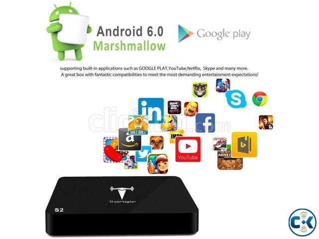 4K Android 6.0 Smart Tv Box Multimedia Player Built-in NEW | ClickBD large image 1