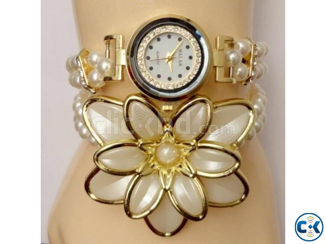 New Rose Shape Fasion Walar Brand Watch | ClickBD large image 0