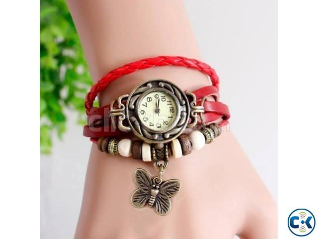 Stylish Blue Color Ladies Bracelet Watch | ClickBD large image 0