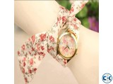 Cloth Belt Designer Ladies Watch