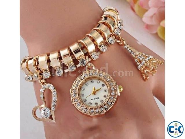 Love and Eiffel Fashion Bracelet Watch | ClickBD large image 0