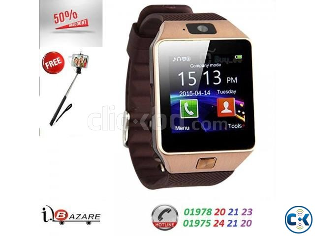 dzo9 smart watch with selfi stick | ClickBD large image 1