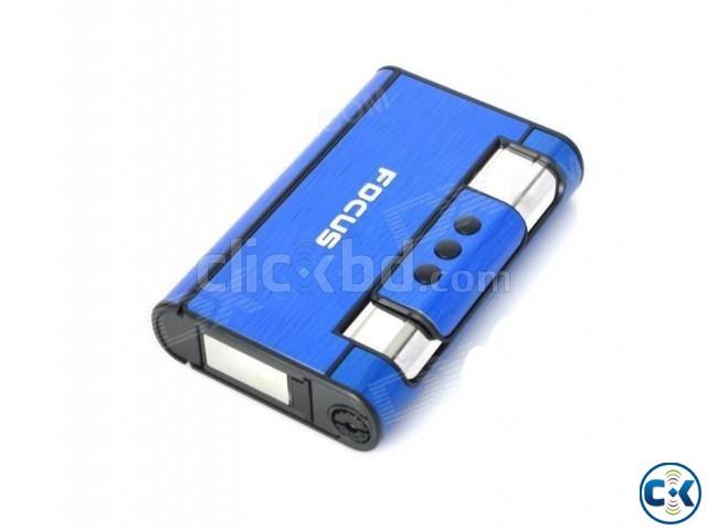 2-in-1 Focus Cigarette Case Lighter - Blue   ClickBD large image 0