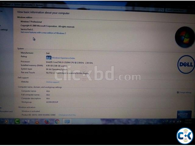 DELL LAPTOP CORE I5 .. | ClickBD large image 3