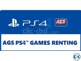 PS4 Game Renting Membership Rules Policies BY AGS