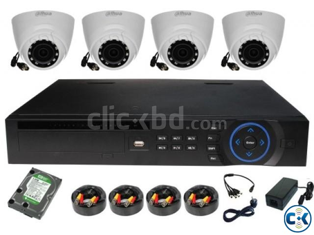4 HD Camera 1 DVR with Full Setup | ClickBD large image 0