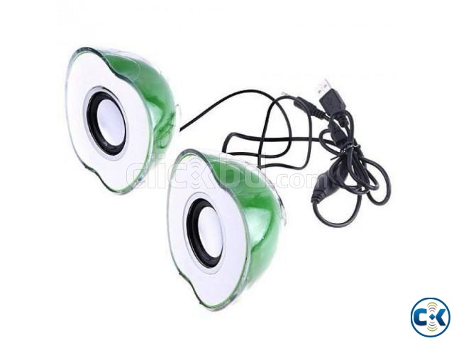 Apple Shaped Green 2-CH Mini Sparkling Speaker Price 700 t | ClickBD large image 0