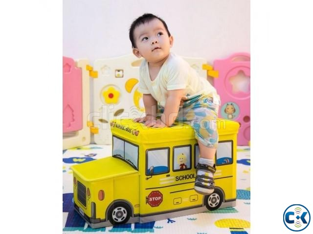 School Bus Toys Storage Box Seat 3-in-1 Kids Gift | ClickBD large image 0