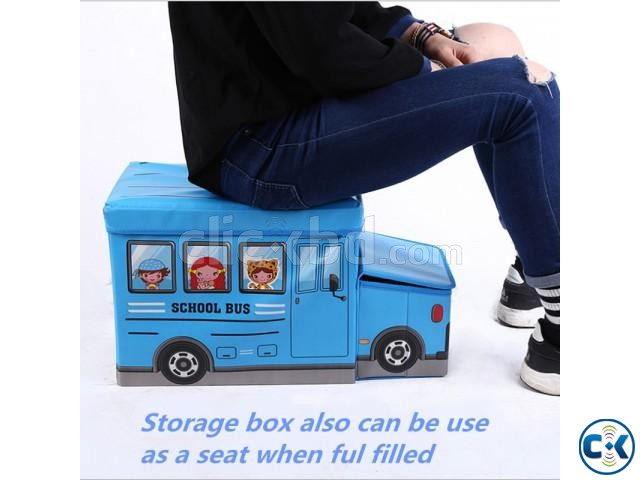 School Bus Toys Storage Box Seat 3-in-1 Kids Gift | ClickBD large image 1