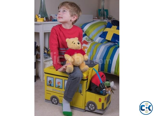 School Bus Toys Storage Box Seat 3-in-1 Kids Gift | ClickBD large image 4