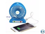Wow Box Rechargeable Fan with Power Bank feature - Blue