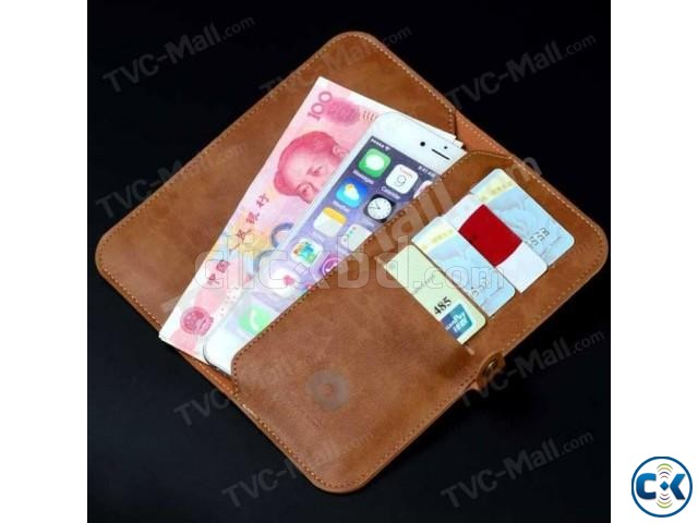 JLW Wallet Leather Protective Cover Business Style only blac | ClickBD large image 0