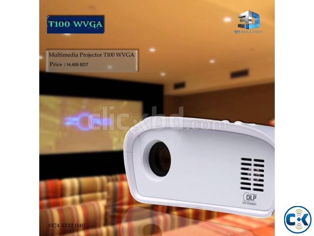 Multimedia Projector T100WVGA | ClickBD large image 0