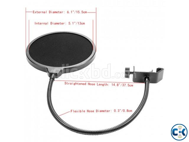 Recording Studio Microphone Mic Wind Screen Pop Filter Mask | ClickBD large image 2