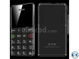 Credit card Size Q5 CARD Phone curve Display Black
