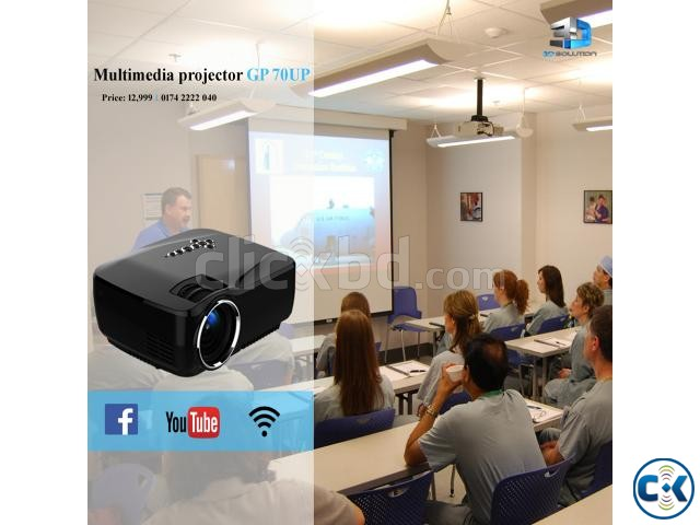 Multi-Media Android WiFi Bluetooth Projector GP-70UP | ClickBD large image 0