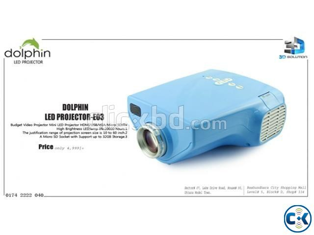 Multimedia TV Projector Dolphin E02 | ClickBD large image 0