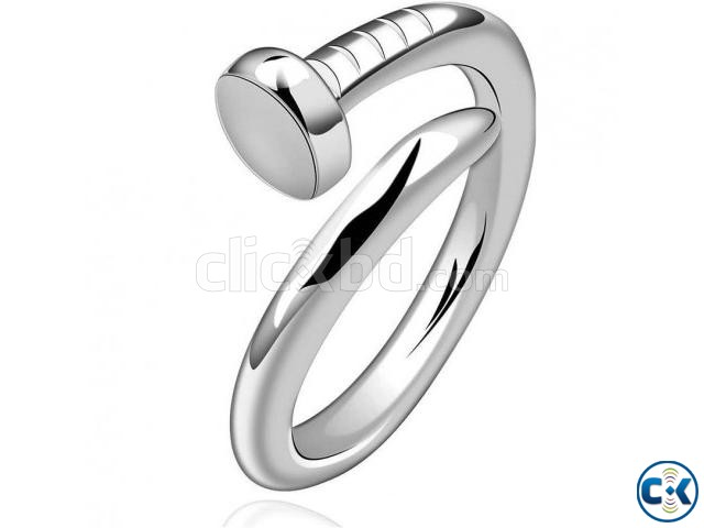 Anvi Jewellers Nickel 23K White Gold Ring | ClickBD large image 0