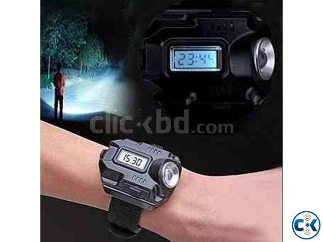 Army LED Wrist Watch with Flashlight | ClickBD large image 0