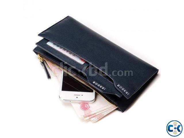Bogesi Leather Black Color Men s Long Wallet | ClickBD large image 0