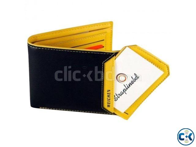 Cowhide Male Wallet Long Design | ClickBD large image 0