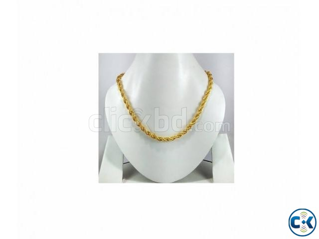 Yellow Gold Plated Metal Chain | ClickBD large image 0