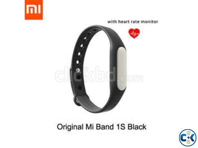 Mi 1s Heart Rate Monitor Smart Wrist Band   ClickBD large image 1