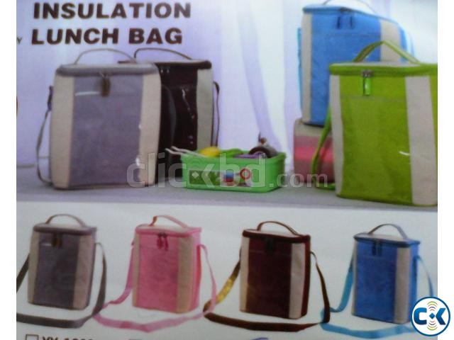 Insulated Lunch Box Carrier Bag for School Office Picnic | ClickBD large image 4