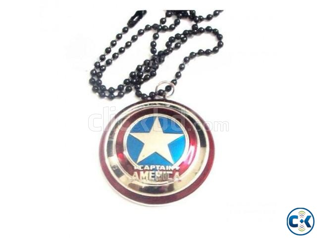 Captain America Locket with Chain. | ClickBD large image 0