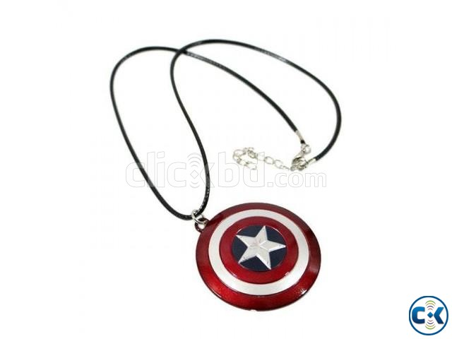 Captain America Shield Necklace | ClickBD large image 0