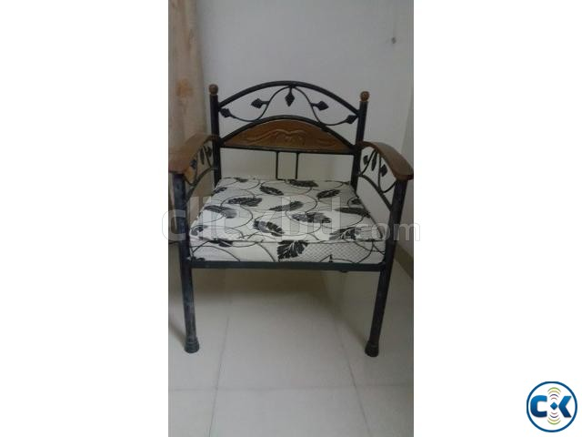 Single wrought iron sofa chair | ClickBD large image 0