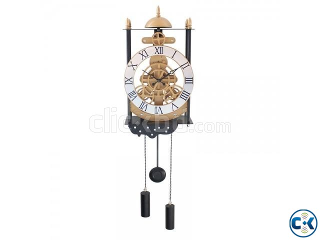 Bird Cage Model Gear Creative Pendulum Pendant Clock Wall | ClickBD large image 1