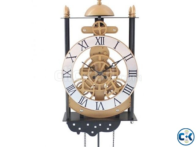 Bird Cage Model Gear Creative Pendulum Pendant Clock Wall | ClickBD large image 4
