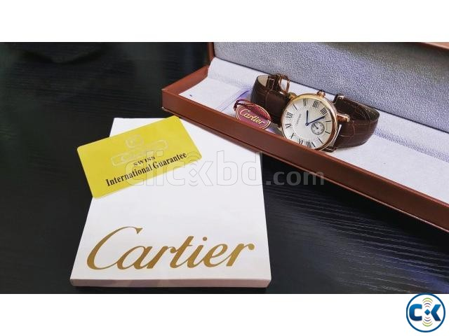 Cartier posh heavy watch swiss made originally with manuals | ClickBD large image 0
