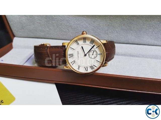 Cartier posh heavy watch swiss made originally with manuals | ClickBD large image 2