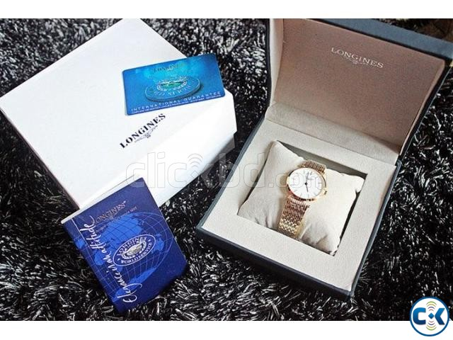 LONGINES posh watch full boxed with manuals | ClickBD large image 0