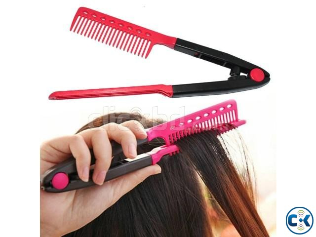 CURLING HAIR STYLING COMB | ClickBD large image 0