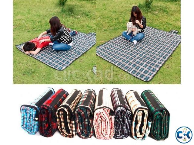 Portable Folding Waterproof Picnic Mat Camping Beach | ClickBD large image 1