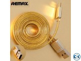 Remax Gold Two Side USB Data Cable Charger