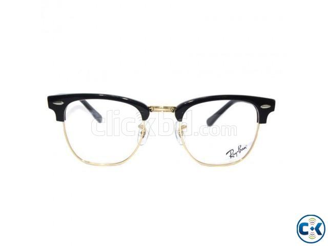 Black RayBan Club Master Golden Glasses Frame | ClickBD large image 0