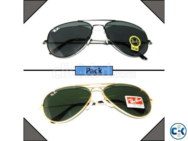 Pack Of 2 Ray-Ban Aviator Sunglasses | ClickBD large image 0