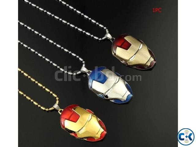 Iron Man Fashion Necklace for Men | ClickBD large image 0