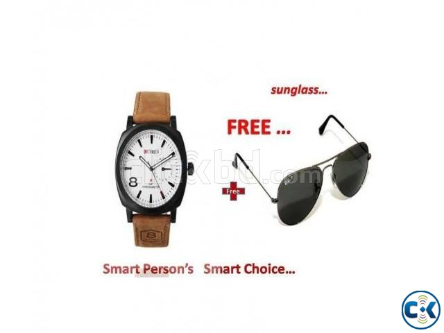 Gents Watch and Sunglass Combo Offer | ClickBD large image 0