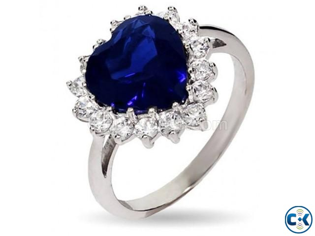 Ladies Blue Stone Ring  | ClickBD large image 0