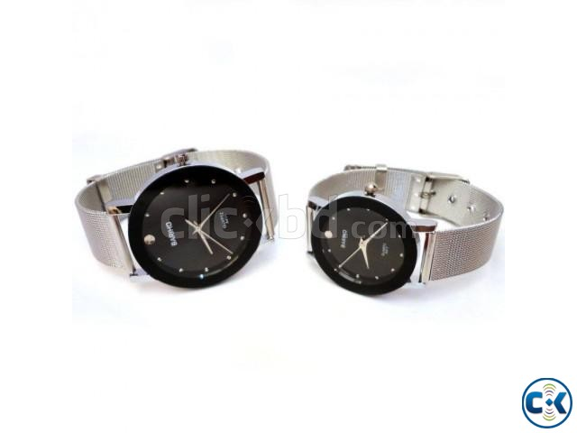 Bariho Stainless Steel Unisex Wrist Watch 2pc | ClickBD large image 0