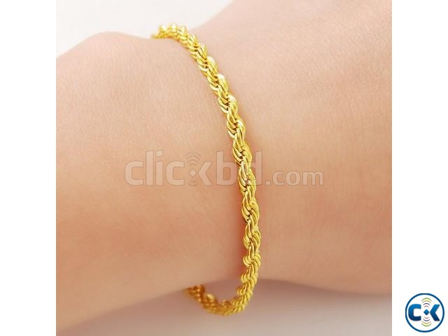Gold plated chain bracelet men s 8 inch | ClickBD large image 0