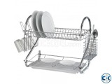 2 LAYER DISH DRAINER-SILVER