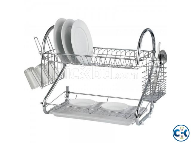 2 LAYER DISH DRAINER-SILVER | ClickBD large image 0